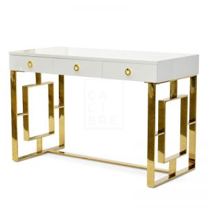 clancy4 300x300 - Clancy Desk - White/Gold