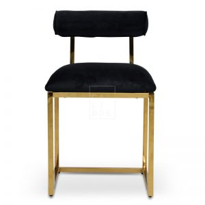 jan 1 300x300 - Janelle Dining Chair - Black Velvet