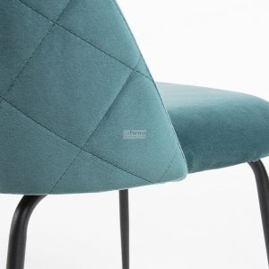 myst13 300x300 - Mystere Dining Chair - Teal Velvet/Black