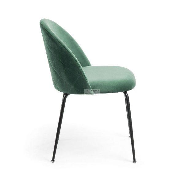 myst2 600x600 - Mystere Dining Chair - Emerald Velvet/Black