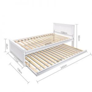 natasha1 300x300 - Natasha King Single Wooden Bed - White