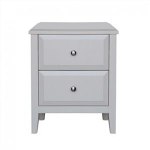 paris bedside table in matt white 300x300 - Paris 2 Drawer Bedside