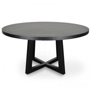 richo1 300x300 - Richo 1200 Round Dining Table - Black