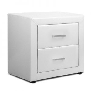 roz6 300x300 - Rozanne PVC Bedside Table - White