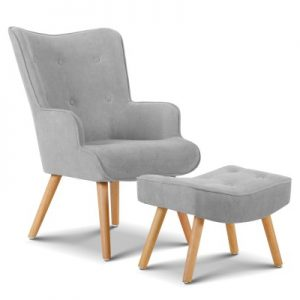 shero 300x300 - Linda Armchair & Ottoman - Light Grey