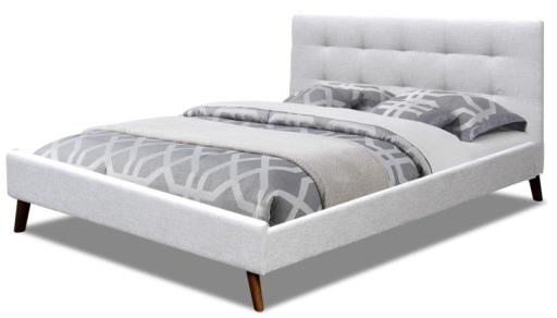 sky bed 512x - Sky Fabric Upholstered Double Bed - Light Grey
