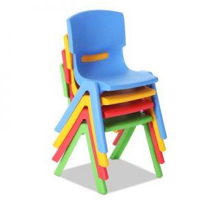 tahsha2 300x300 - Tahsha Set of 4 Stackable Chairs - Multi Coloured