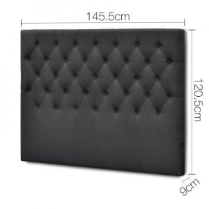 BFRAME E HEAD D CHAR 01 300x300 - Arthur Upholstered Headboard Charcoal-Double