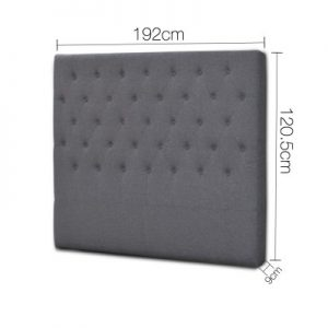 BFRAME E HEAD K GY 01 300x300 - Lexi Upholstered Headboard Grey-King
