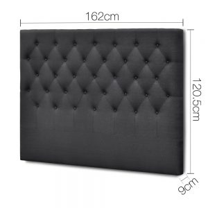 BFRAME E HEAD Q CHAR 01 300x300 - Arthur Upholstered Headboard Charcoal-Queen