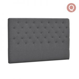 BFRAME E HEAD Q GY 00 300x300 - Lexi Upholstered Headboard Grey-Queen