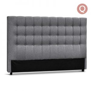 BFRAME E RAFT Q LI GY 00 300x300 - Dennis Upholstered Fabric Headboard Grey-Queen Size
