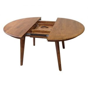 Belmont Round Ext Table Teak half open 1024x1024 300x300 - Belmont 1050 Extension Dining Table - Teak