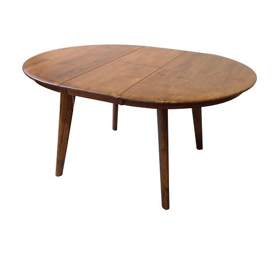 Belmont Round Ext Table teak Open 1024x1024 - Belmont 1050 Extension Dining Table - Teak