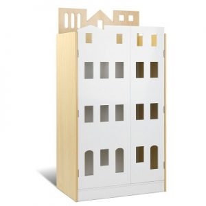 FUNKI BC2 WH NT 00 300x300 - Emmy Castle Bookshelf - White & Natural