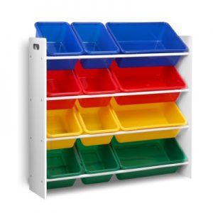 FURNI G TOY110 WH 00 300x300 - Kids 12 Bin Toy Organiser Storage Rack