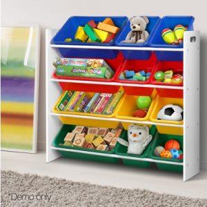 FURNI G TOY110 WH 08 300x300 - Kids 12 Bin Toy Organiser Storage Rack