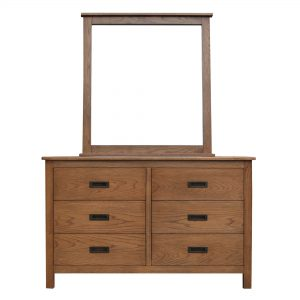 Finley dresser 300x300 - Serra 6 Drawer Dresser With Mirror