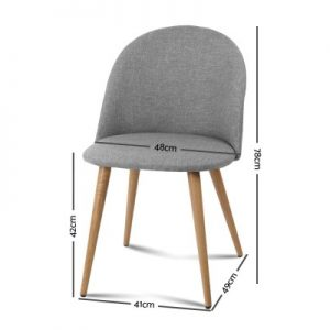 MO DIN 02 LI GYX2 01 300x300 - Georgia Fabric Dining Chair - Light Grey