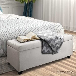 OTM L2 LINEN BEIGE 11 300x300 - Courtney Fabric Storage Ottoman - Beige