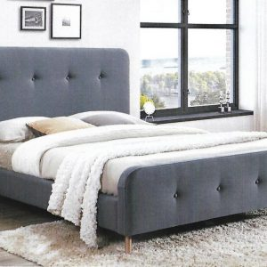 bondi 300x300 - Bondi Mid Grey Upholstered Bed - King Single