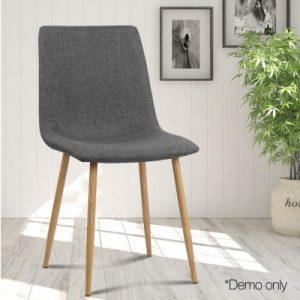 collins15 300x300 - Collins Fabric Dining Chair - Dark Grey