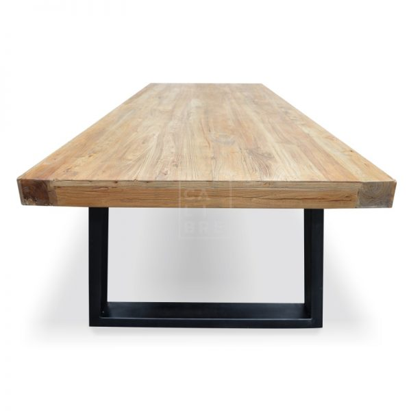 dsc 6352 1 600x600 - Cameron Reclaimed Elm Wood 3000 Dining Table