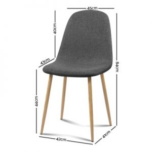 lyss 300x300 - Ilyssa Fabric Dining Chair - Dark Grey