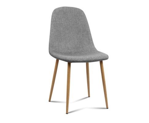 lyss7 - Ilyssa Fabric Dining Chair - Light Grey