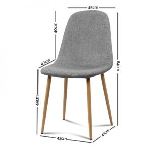 lyss8 300x300 - Ilyssa Fabric Dining Chair - Light Grey