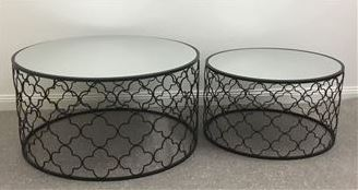 Atlantic - Atlantic Set Of 2 Coffee Tables - Black