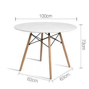 BA BB DSW TAB100 WH 01 300x300 - Eames 1000 Round Dining Table - White