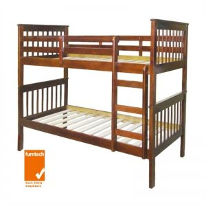 Monza Single Walnut 1 300x300 - Monza Single Bunk Bed - Walnut