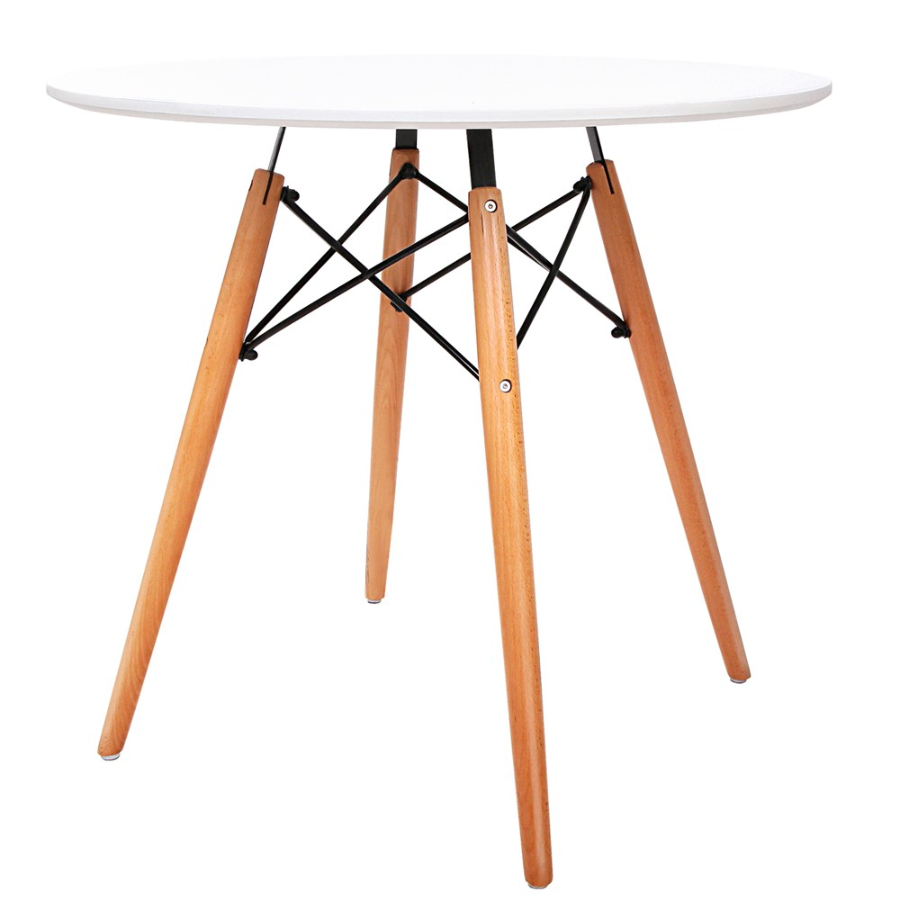 Eames 800 Round Dining Table White
