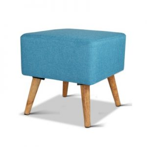 FS LIN 007 BU 00 300x300 - Saidy Fabric Square Foot Stool Blue