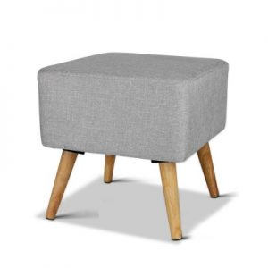 FS LIN 008 LI GY 00 300x300 - Saidy Fabric Square Foot Stool Grey