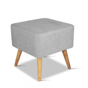 FS LIN 008 LI GY 03 300x300 - Saidy Fabric Square Foot Stool Grey