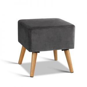 FS VEL 008 GY 00 300x300 - Saidy Velvet Square Foot Stool Grey