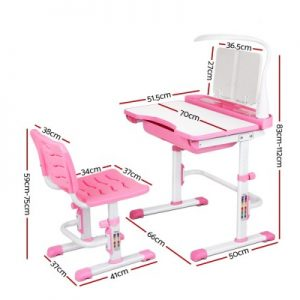 KID DESK 70A PK 01 300x300 - Shani Kids Study Desk & Chair - Pink