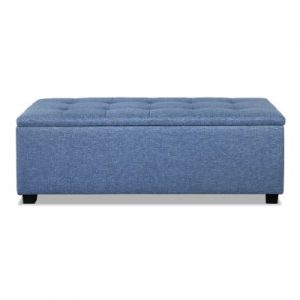 OTM L2 LINEN BU 03 300x300 - Courtney Fabric Storage Ottoman - Blue