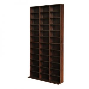 cd shelf es ab 05 300x300 - Adjustable Book Storage Unit - Brown