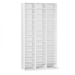 cd shelf wh ab 00 300x300 - Adjustable Book Storage Unit - White