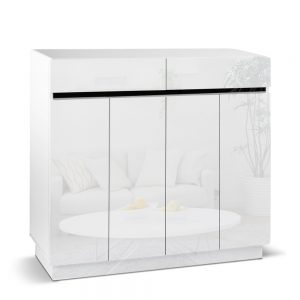 hf j shoe r6003 120 wh abc 00 1 300x300 - Gloss White Shoe Cabinet
