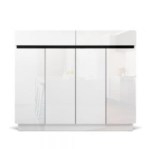 hf j shoe r6003 120 wh abc 02 1 300x300 - Gloss White Shoe Cabinet