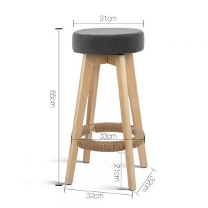 Alex 2 1 300x300 - Alex Bar Stool - Grey