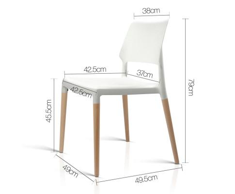 BA TW M2503 086 WHX4 01 - Cafe Belloch Chair - White