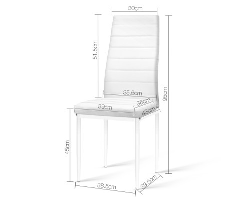 DINING B C02 WH 01 - Charge Dining Chair - PVC White