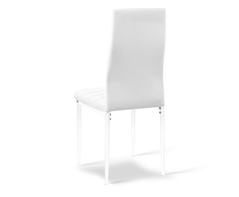 DINING B C02 WH 02 - Charge Dining Chair - PVC White