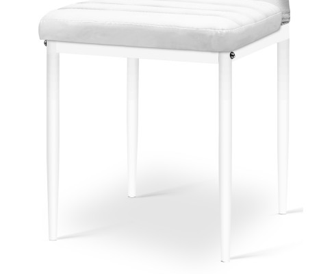 DINING B C02 WH 04 - Charge Dining Chair - PVC White