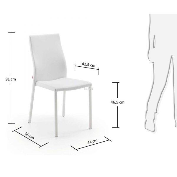 c039u05 3m 600x600 - Aura Dining Chair -White